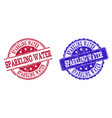 grunge scratched sparkling water stamp seals vector image vector image