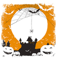 halloween background spider and castle vector image vector image