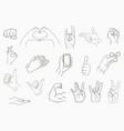 hand gestures set vector image vector image