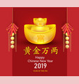 happy chinese new year 2019 wealthy zodiac sign vector image vector image