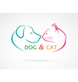 image of an dog and cat vector image vector image