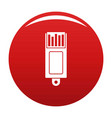 information usb icon red vector image vector image