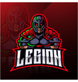 legion warrior mascot logo design vector image