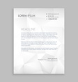 letterhead design in paper style vector image vector image