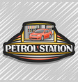 logo for petrol station vector image vector image