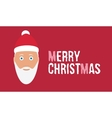 Merry christmas wish on red background card with vector image vector image