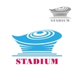 Modern blue stadium or arena icon vector image vector image