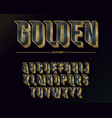modern elegant golden font and alphabet abc vector image vector image