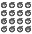 Ninja smiley face icons vector image