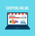 online store shopping online e-commerce shopping vector image vector image