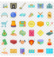 perfect choice icons set cartoon style vector image vector image