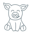 pig animal linear style vector image
