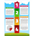 playful timeline infographics vector image vector image