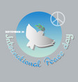 poster for the international day of peace vector image vector image