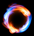 ring of fire in black background vector image