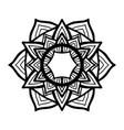 round black mandala on white isolated background vector image