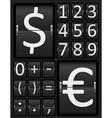 Scoreboard Mechanical Panel - Numbers