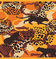 seamless exotic pattern with abstract silhouettes vector image vector image