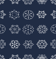 seamless snowflakes vector image vector image