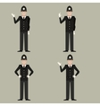 set british police men vector image vector image