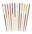 set chopsticks vector image