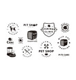 set pet care labels vector image