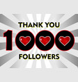 set realistic followers banner with ribbon vector image