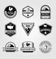 set vintage retro badge premium logo bundles vector image vector image