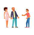son teenager in anger shouts at his parents vector image vector image