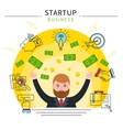Startup Business Line Concept vector image vector image