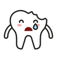teeth character isolated icon vector image vector image