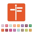 The signpost icon Pointer symbol Flat vector image vector image