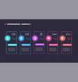 thin line infographic concept with 5 options vector image vector image
