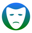 tragedy theatrical masks white icon in vector image vector image