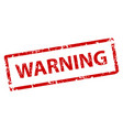 warning sign sticker stamp texture vector image vector image