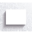 White banner on the wall with floral pattern vector image vector image
