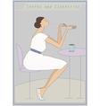 Woman in cafe vector image
