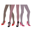 woman legs in fashion shoes vector image