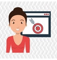 woman page web target vector image