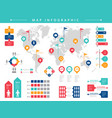 world infographic business presentation people vector image vector image