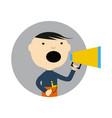 young boy with slingshot and megaphone icon vector image vector image