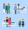 care of patients in hospital medical therapy vector image