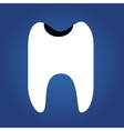 tooth flat icon isolated on a blue background for vector image