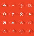Transparent Arrows Set on Red Background vector image