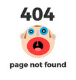 404 error page for web error at site vector image