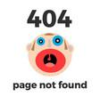 404 error page for web error at site vector image vector image