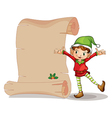 A dwarf with an empty signage vector image vector image
