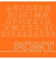 a linear font vector image