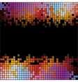 Abstract digital background with colorful pixels vector image vector image