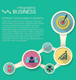abstract flat infographic concept vector image